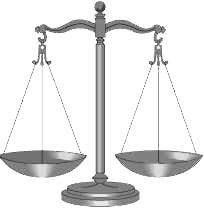 Scale of justice DV